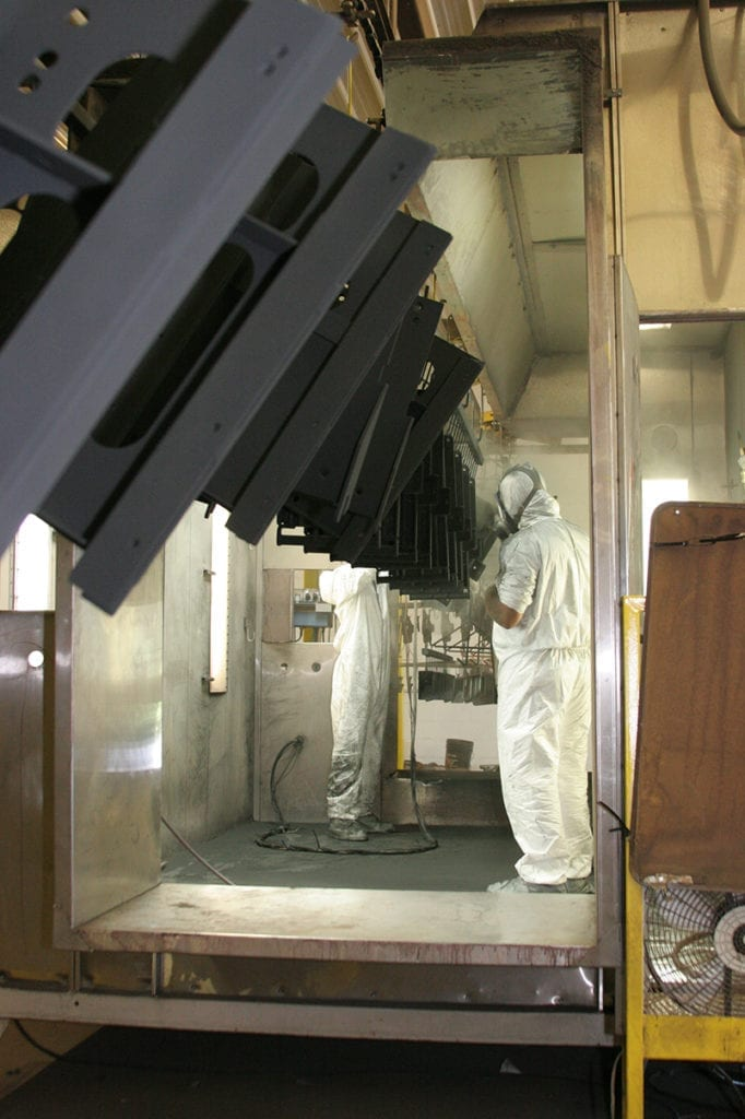 product being loaded into heater